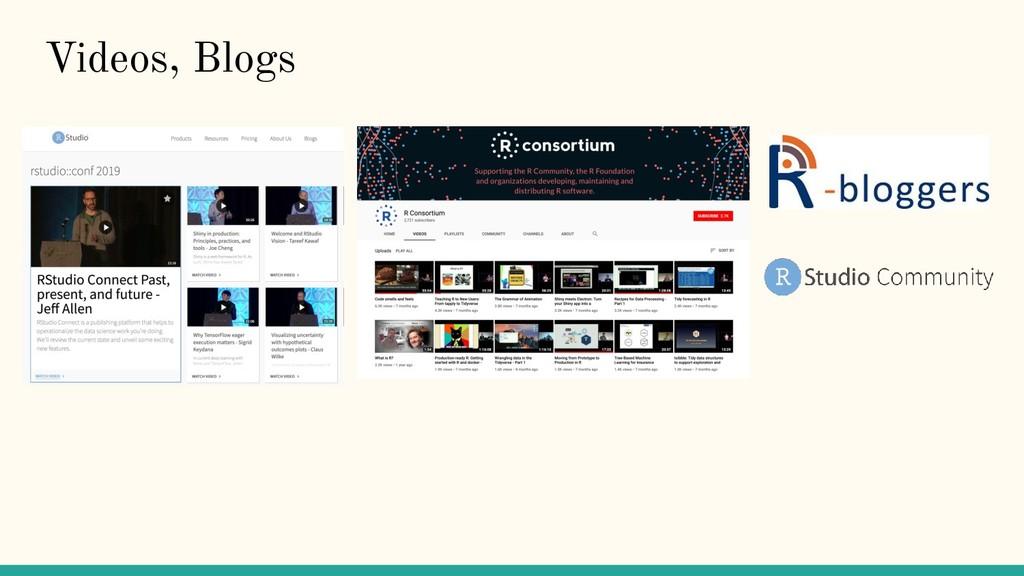 Videos, Blogs