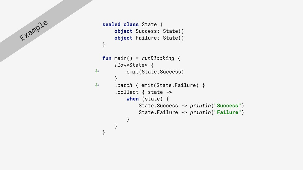 sealed class State { object Success: State() ob...