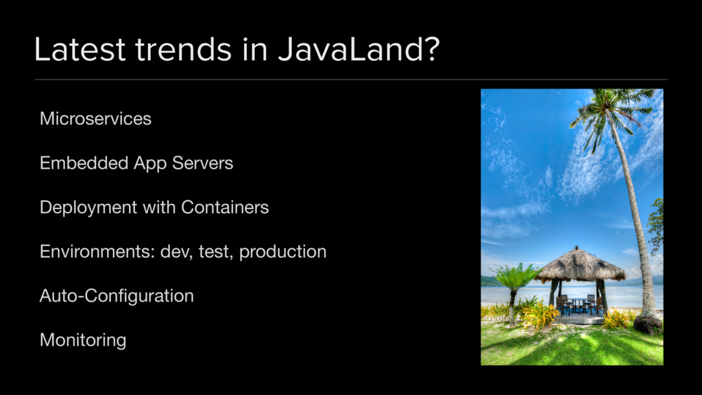 Latest trends in JavaLand? Microservices  Embed...