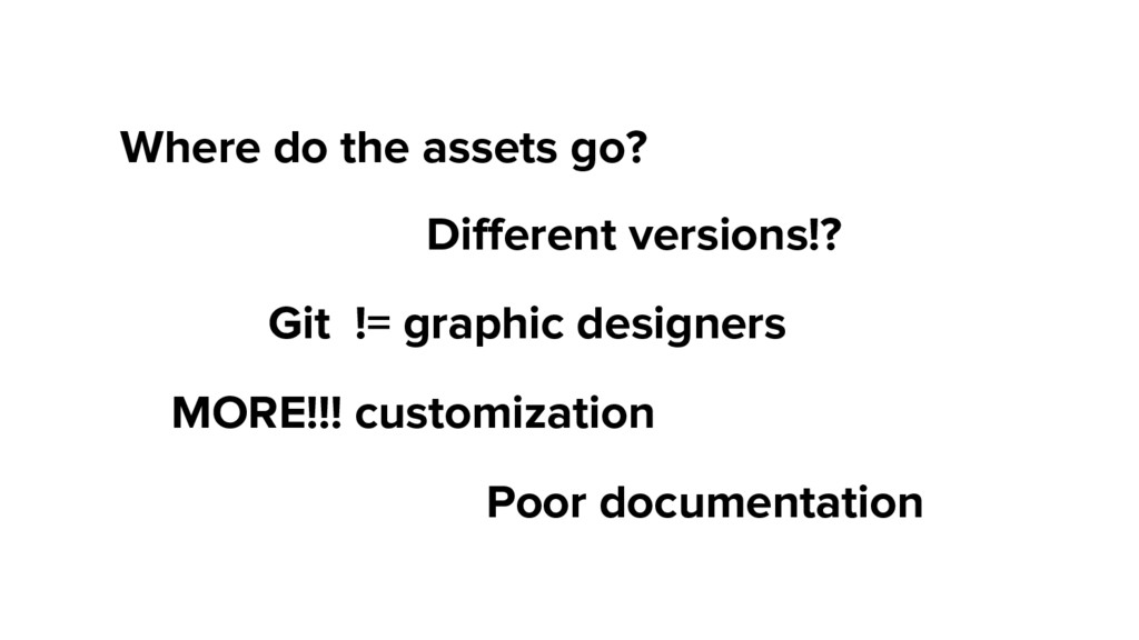 Where do the assets go? Different versions!? MO...