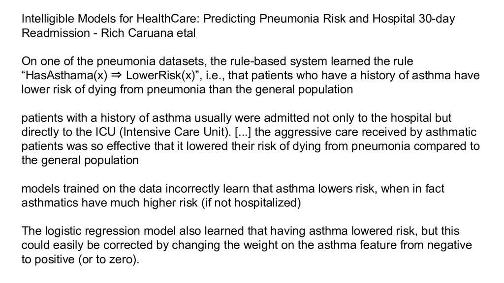 Intelligible Models for HealthCare: Predicting ...