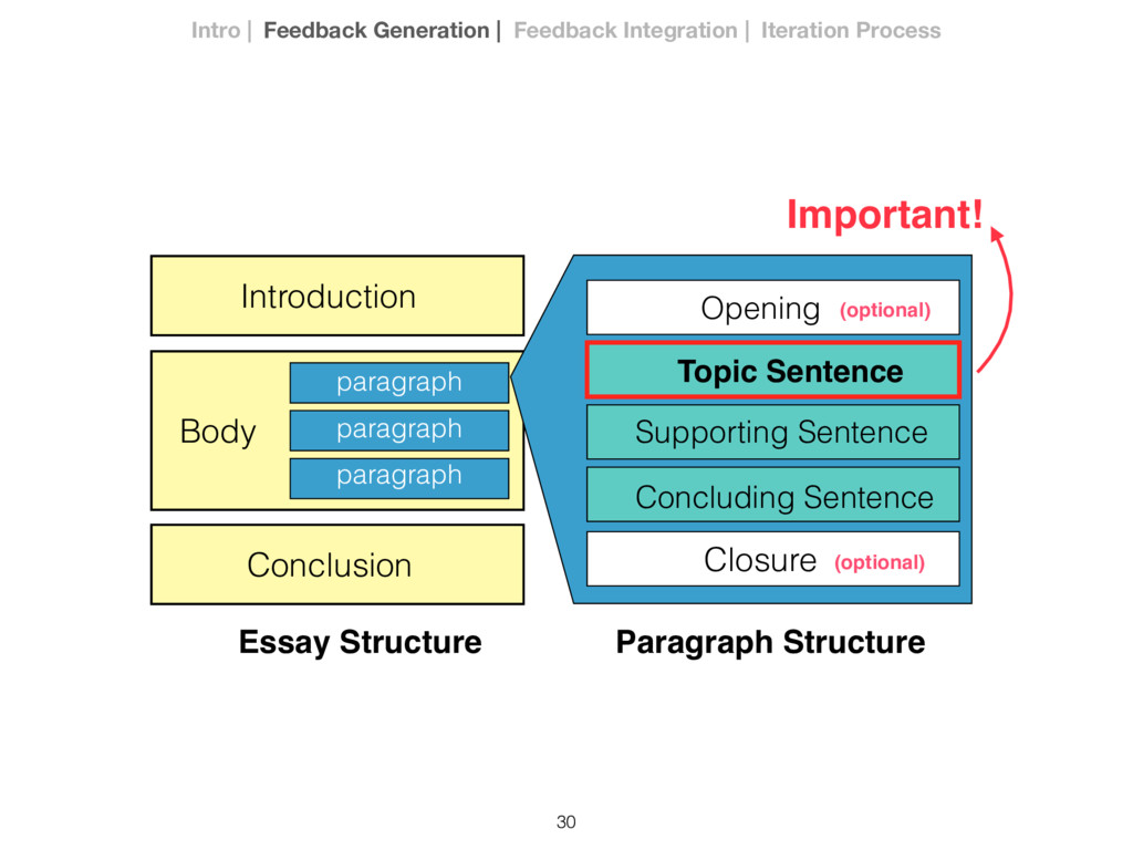 30 Opening Topic Sentence Supporting Sentence C...