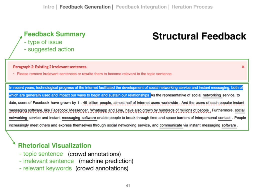 41 Feedback Summary Rhetorical Visualization St...