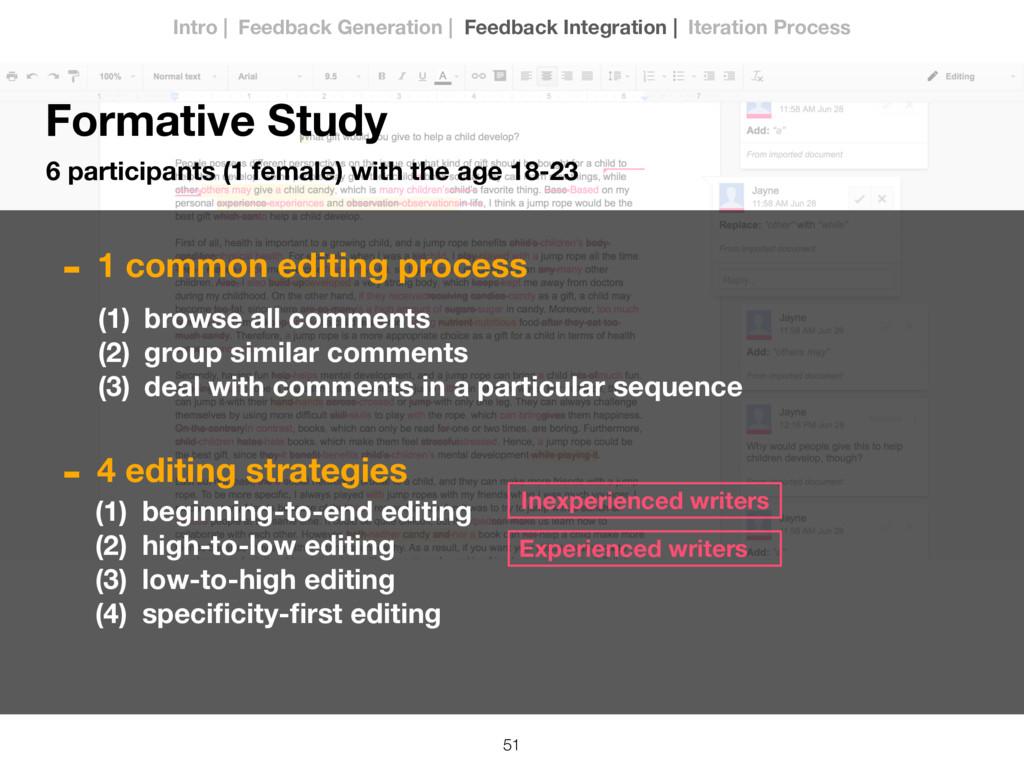 51 Formative Study 6 participants (1 female) wi...