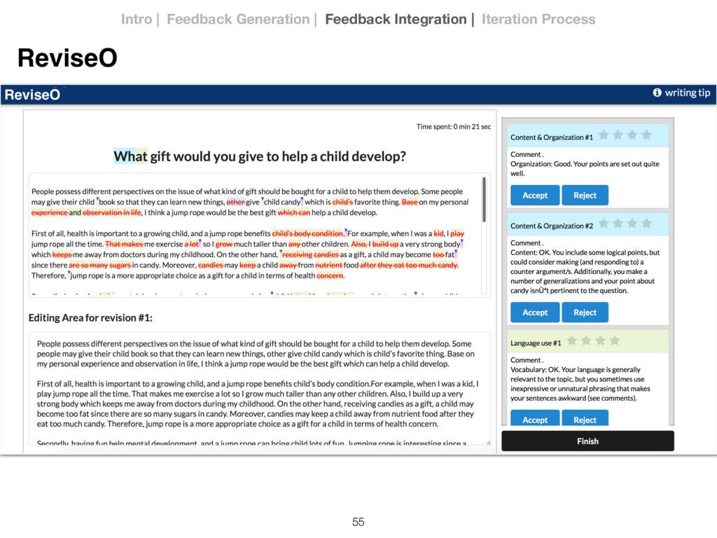 55 ReviseO ReviseO Intro | Feedback Generation ...