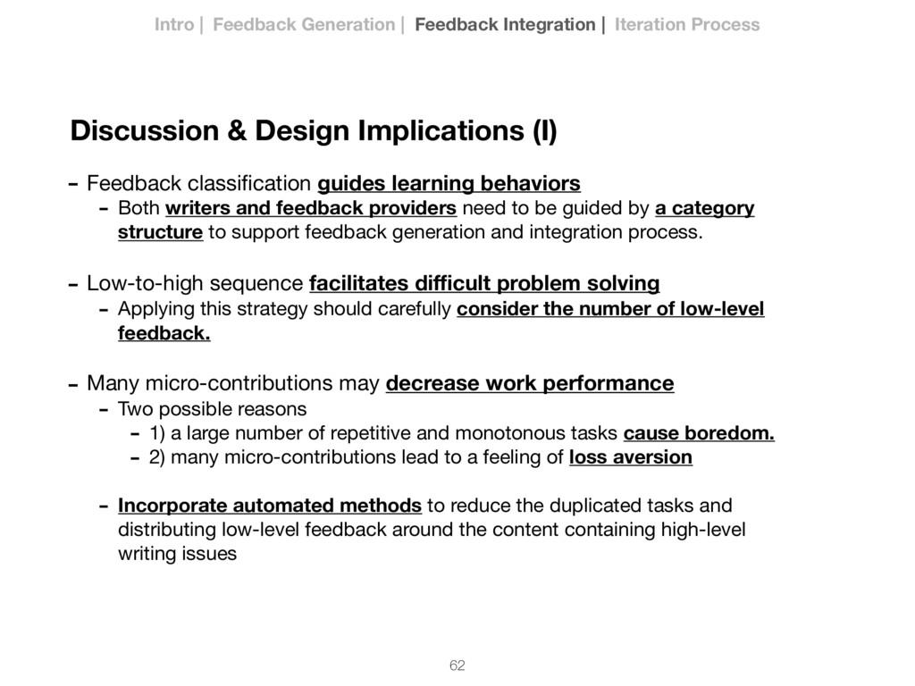 62 Discussion & Design Implications (I) - Feedb...