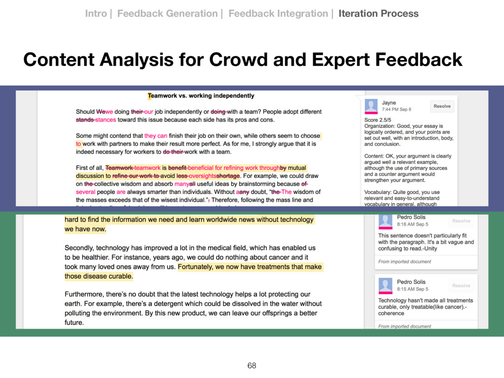 68 Content Analysis for Crowd and Expert Feedba...