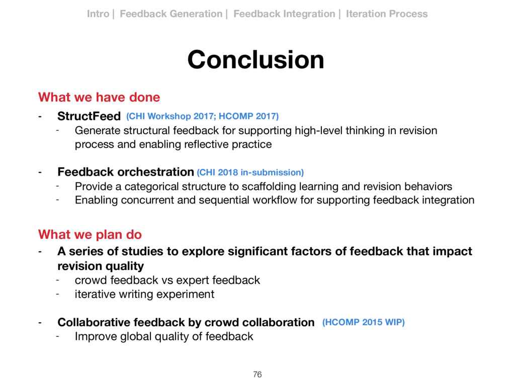 76 Conclusion - StructFeed - Generate structura...