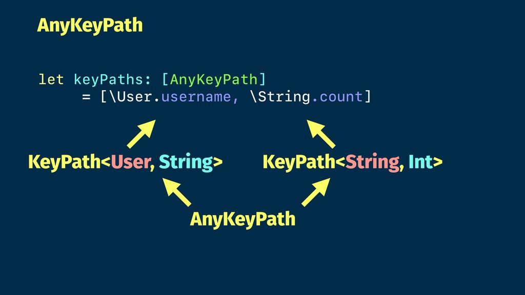 AnyKeyPath let keyPaths: [AnyKeyPath] = [\User....