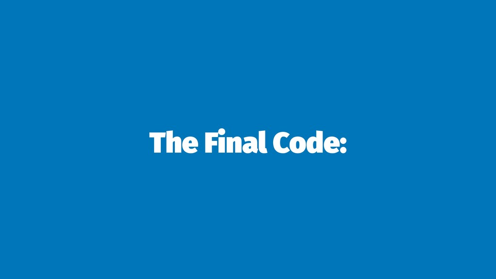 The Final Code: