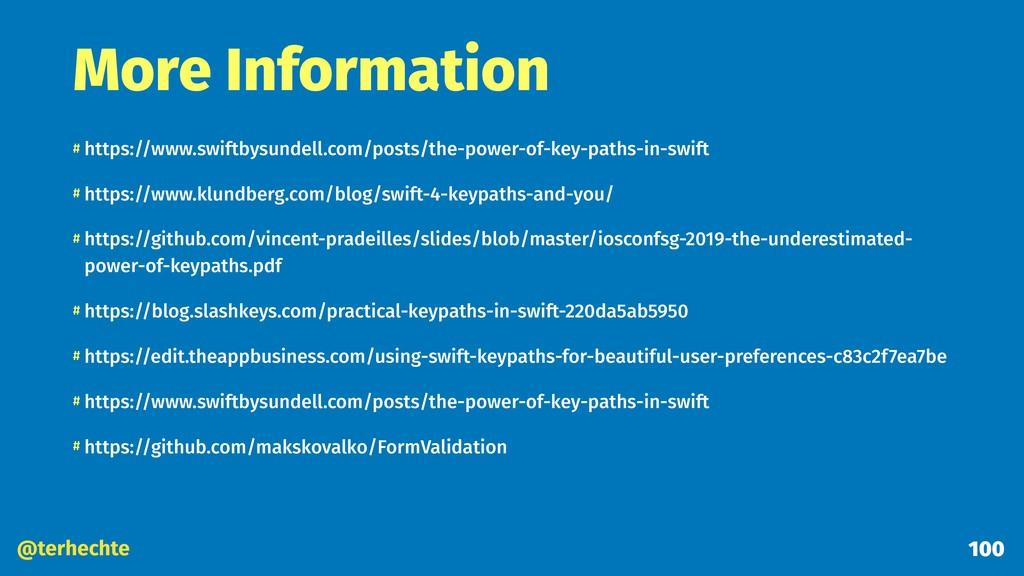 @terhechte More Information # https://www.swift...
