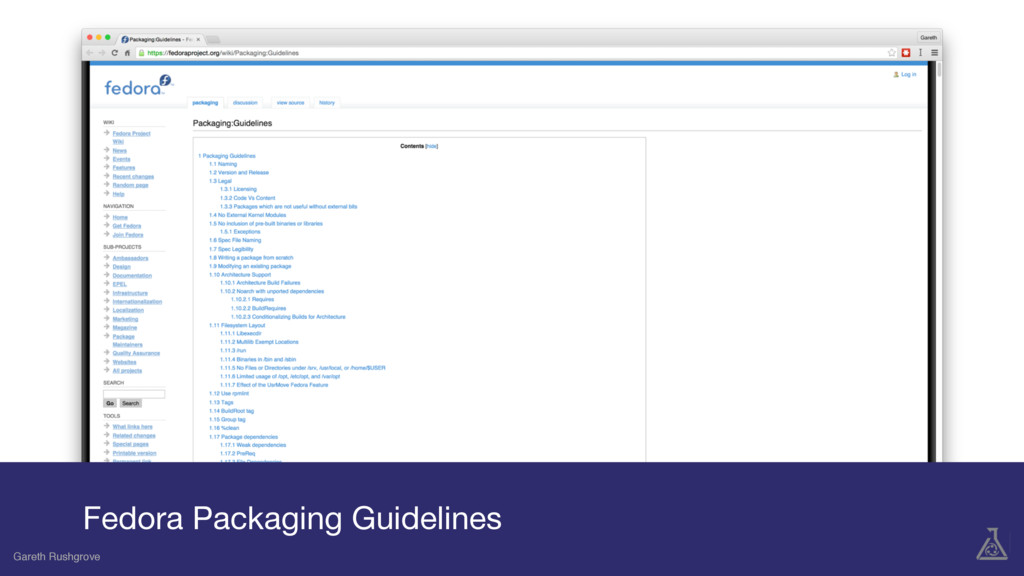 Gareth Rushgrove Fedora Packaging Guidelines Ga...