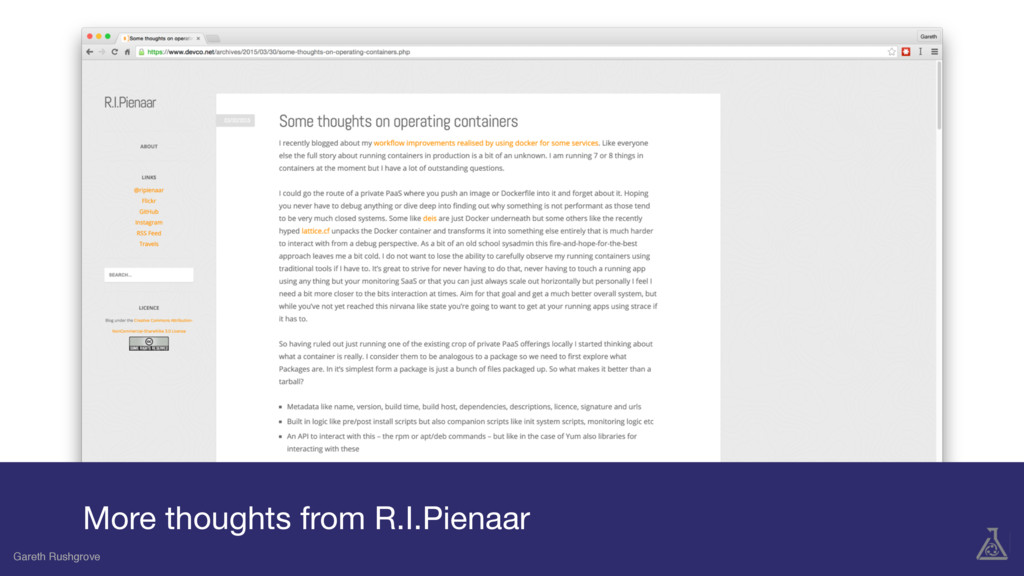 Gareth Rushgrove More thoughts from R.I.Pienaar...