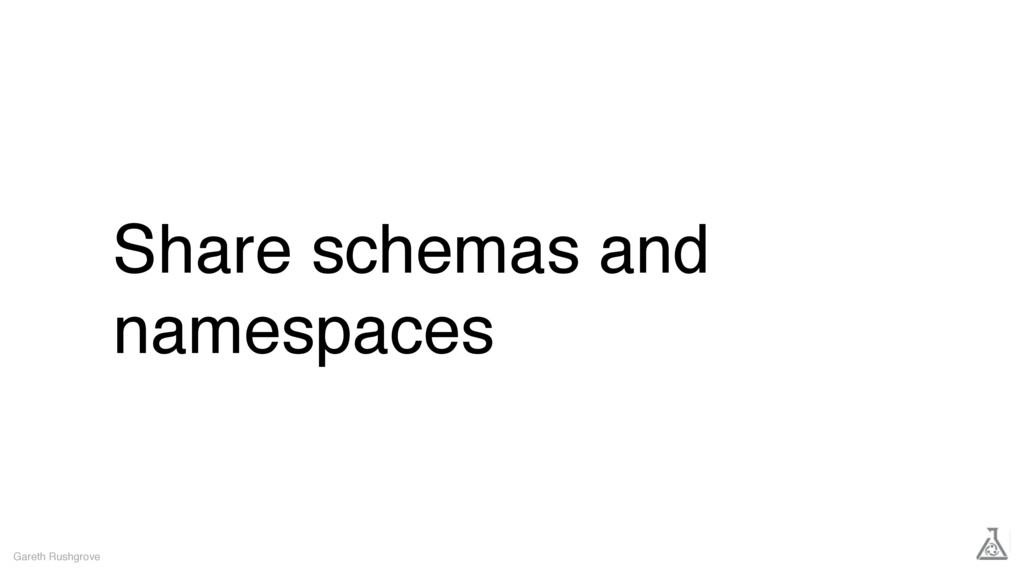 Share schemas and namespaces Gareth Rushgrove
