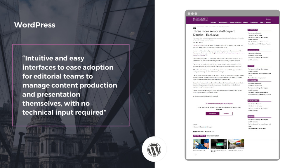 """""""Intuitive and easy interfaces to ease adoption..."""
