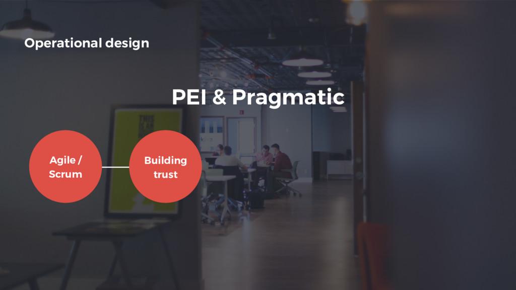 Operational design Building trust Agile / Scrum...