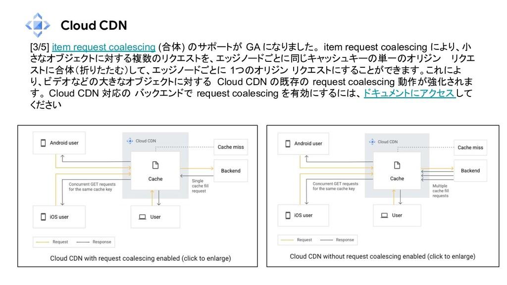 Cloud CDN [3/5] item request coalescing (合体) のサ...