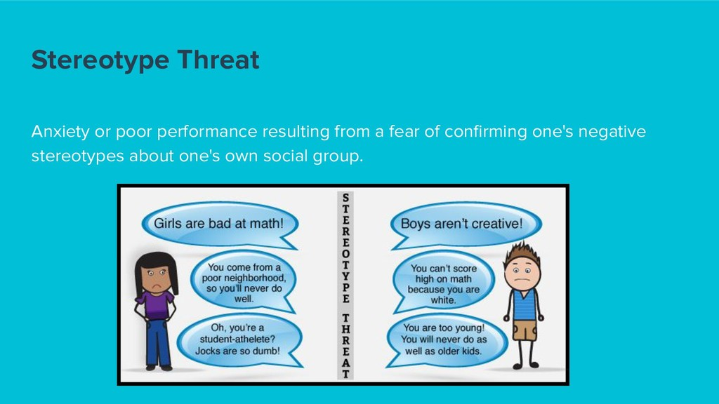 Stereotype Threat Anxiety or poor performance r...
