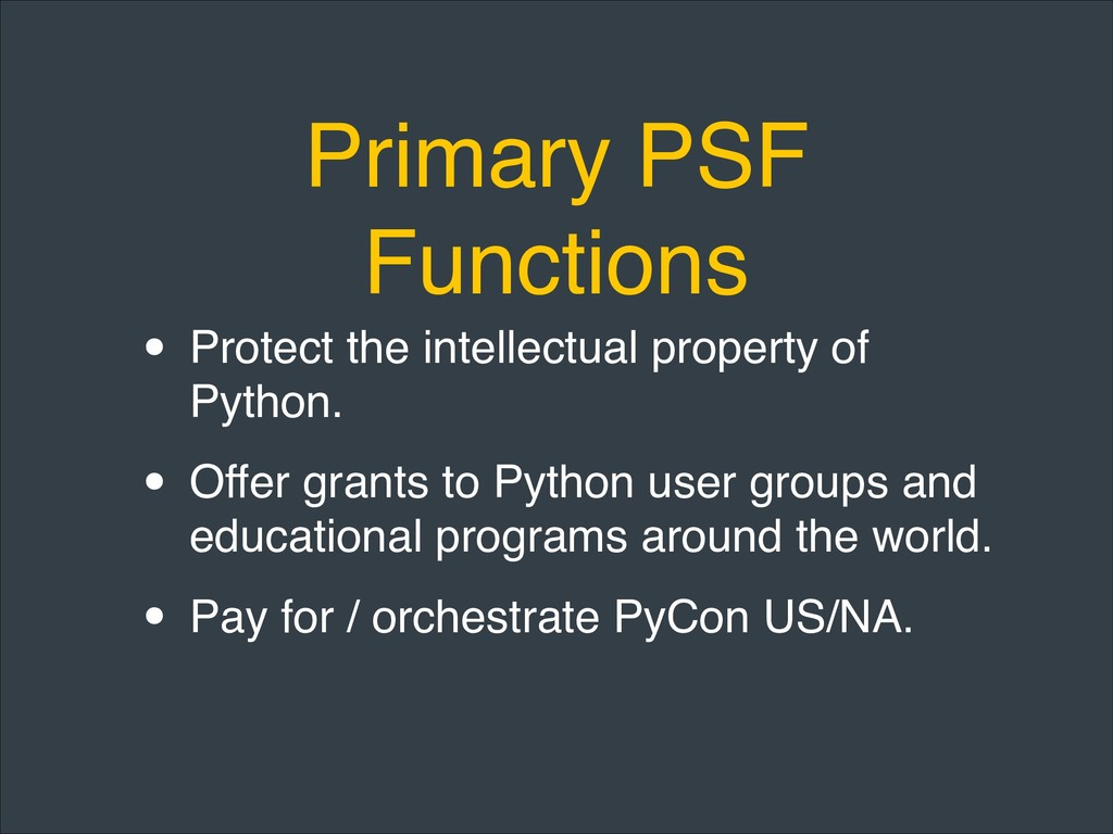 Primary PSF Functions • Protect the intellectua...