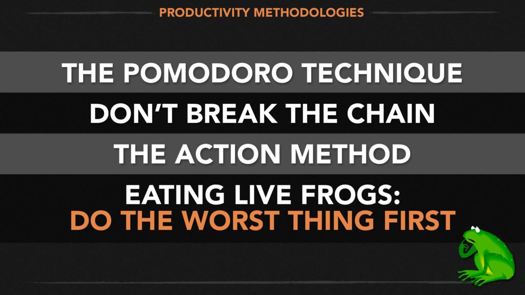 THE POMODORO TECHNIQUE DON'T BREAK THE CHAIN TH...