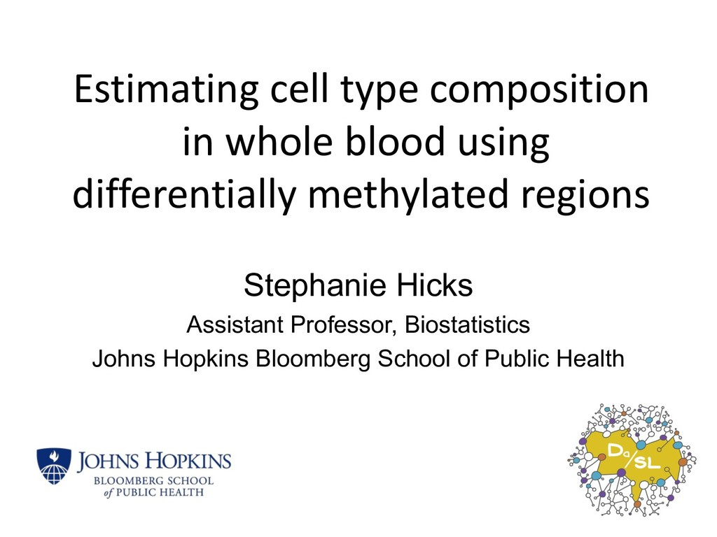 Estimating cell type composition in whole blood...