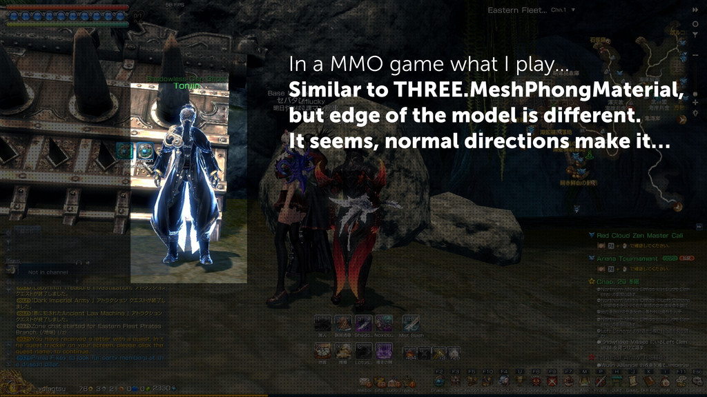 In a MMO game what I play… Similar to THREE.Mes...