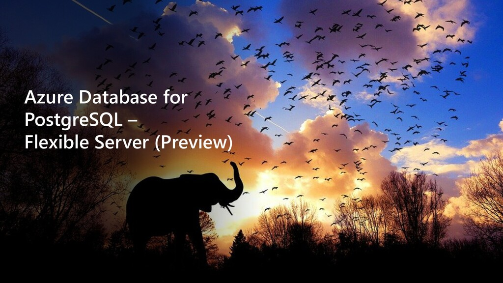 Azure Database for PostgreSQL – Flexible Server...