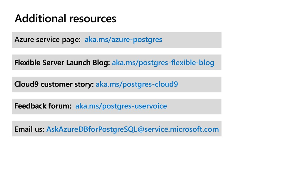 Additional resources Azure service page: aka.ms...