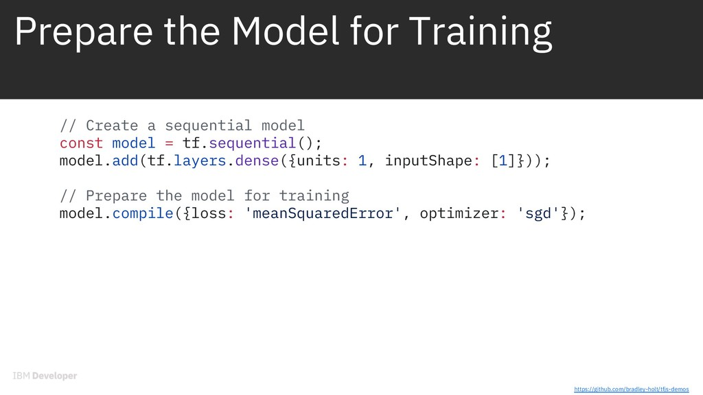 Prepare the Model for Training // Create a sequ...