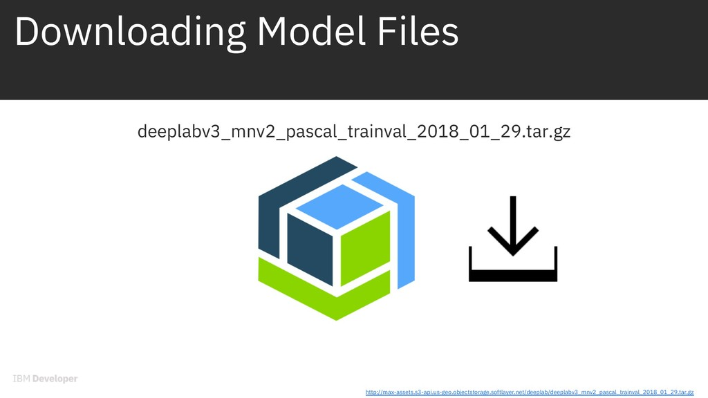 Downloading Model Files deeplabv3_mnv2_pascal_t...