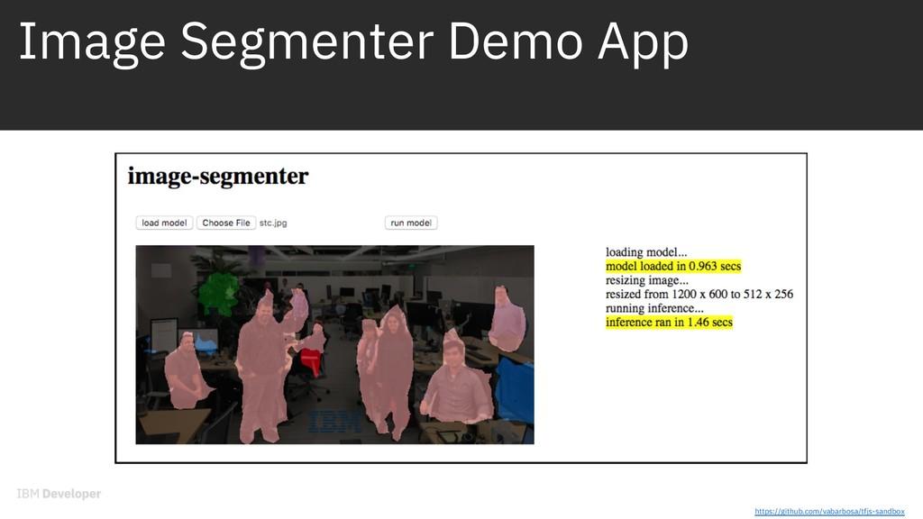 Image Segmenter Demo App https://github.com/vab...