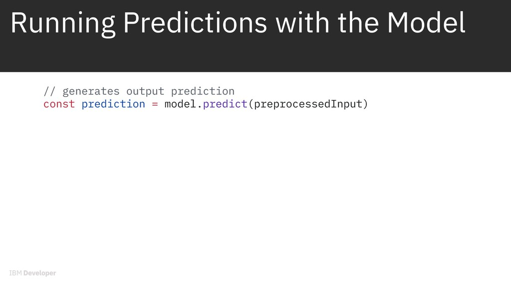 Running Predictions with the Model // generates...