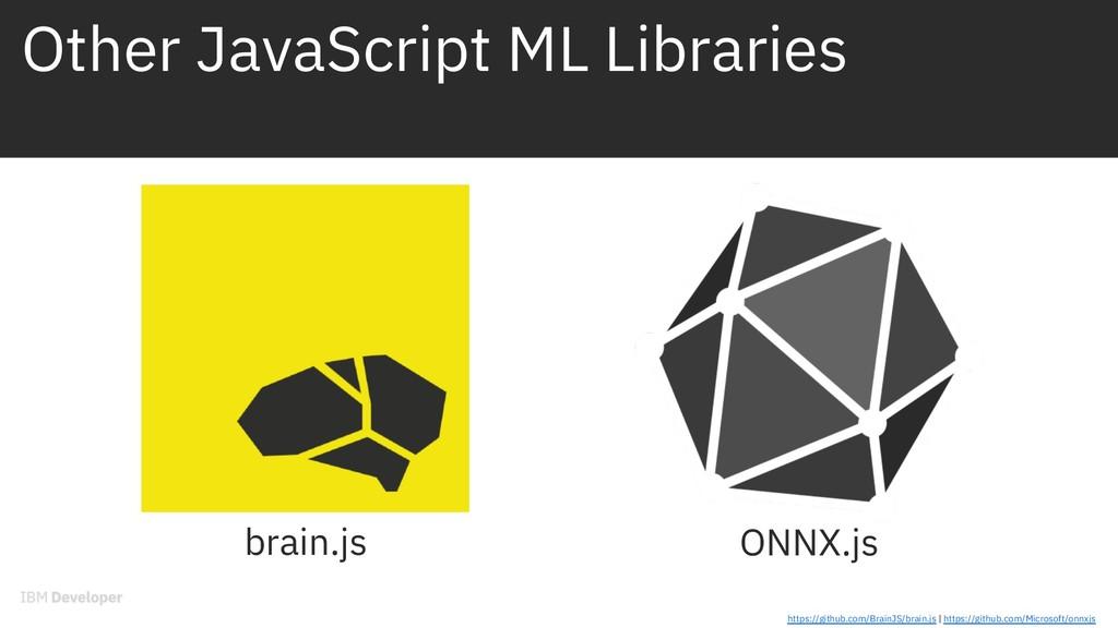 brain.js ONNX.js https://github.com/BrainJS/bra...