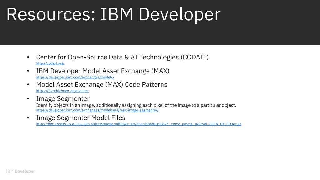 Resources: IBM Developer • Center for Open-Sour...