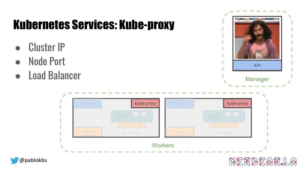 @pablokbs Kubernetes Services: Kube-proxy Kubel...