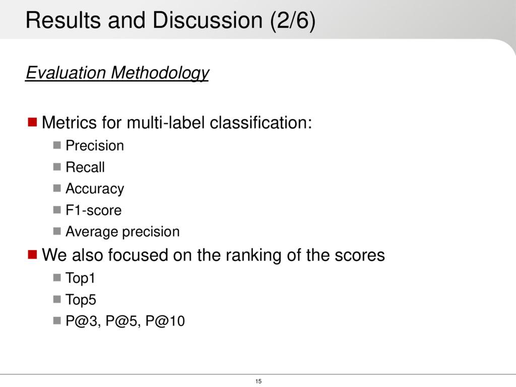 15 Evaluation Methodology Metrics for multi-la...