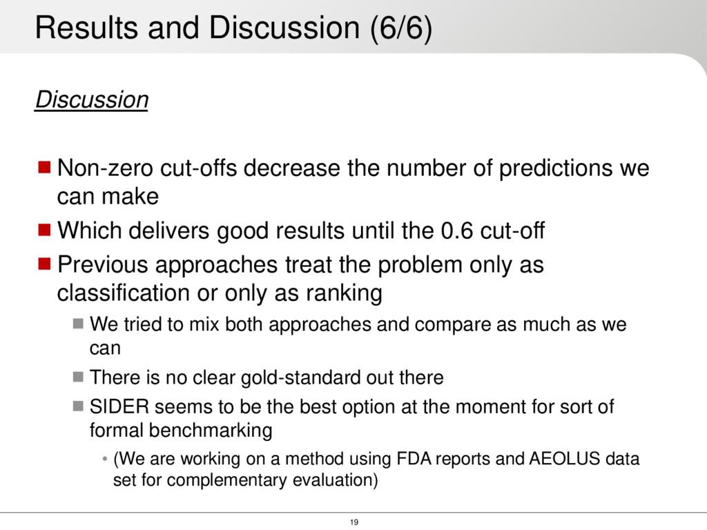 19 Discussion Non-zero cut-offs decrease the n...