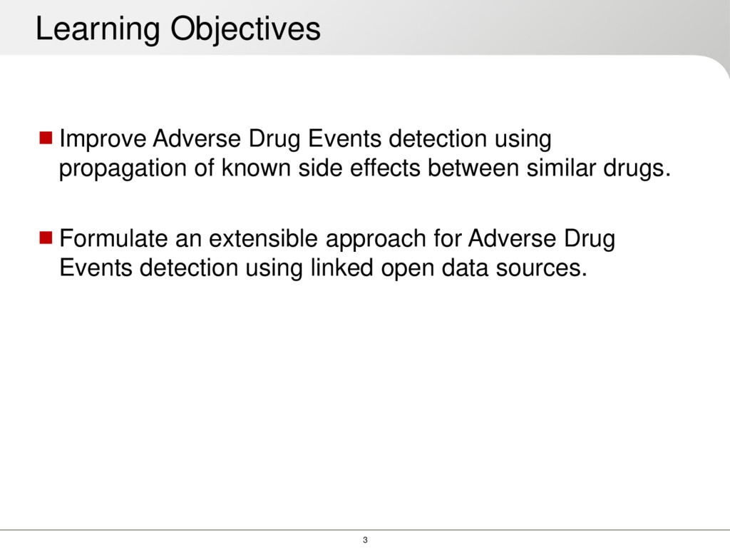 3 Improve Adverse Drug Events detection using ...