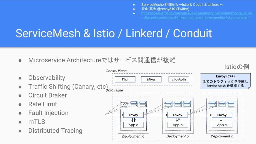 ServiceMesh & Istio / Linkerd / Conduit ● Micro...