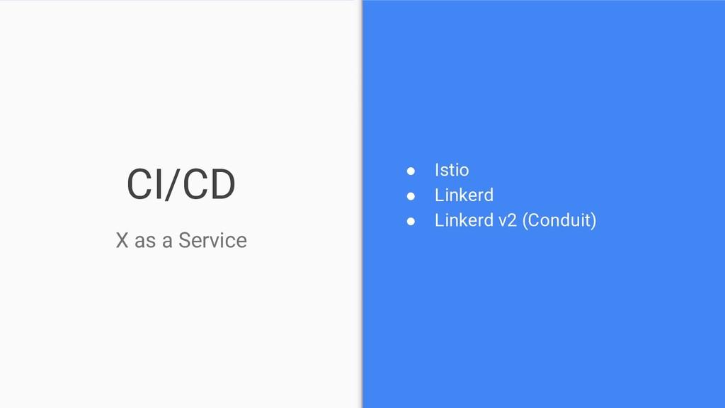 CI/CD ● Istio ● Linkerd ● Linkerd v2 (Conduit) ...