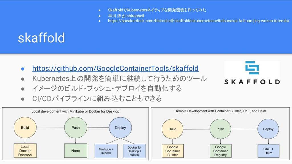 skaffold ● https://github.com/GoogleContainerTo...