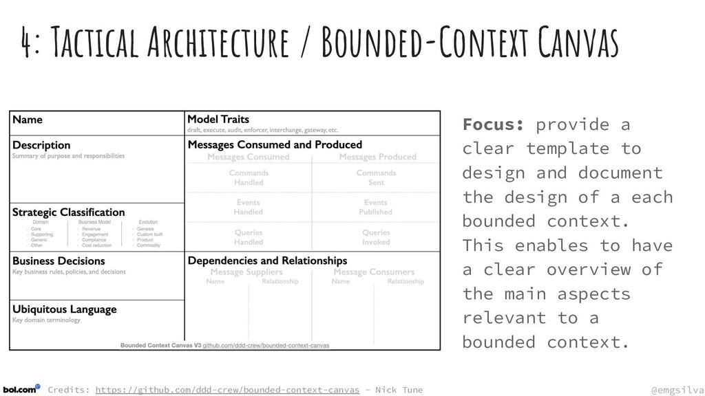 @emgsilva @emgsilva 4: Tactical Architecture / ...