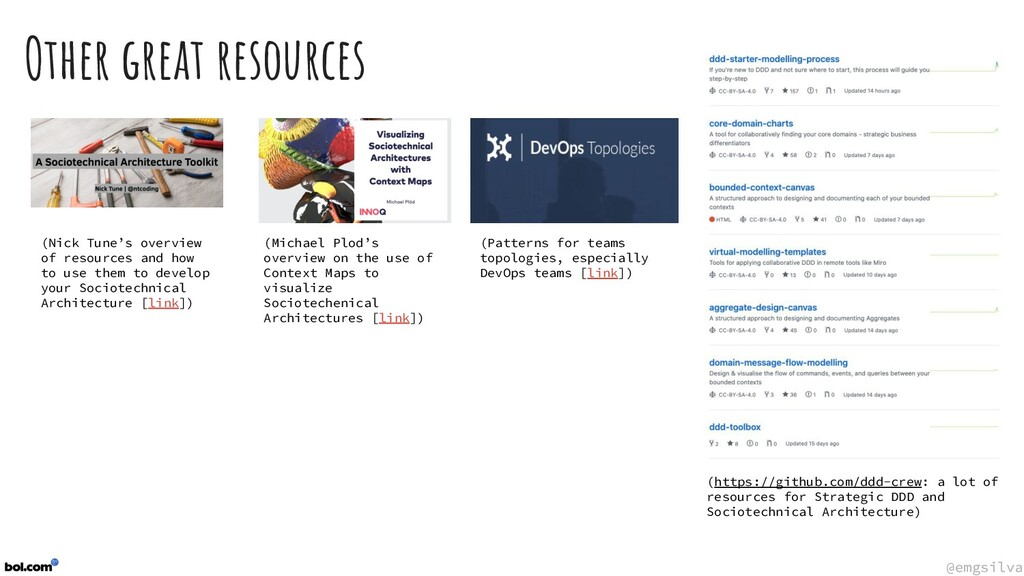 @emgsilva @emgsilva Other great resources (http...