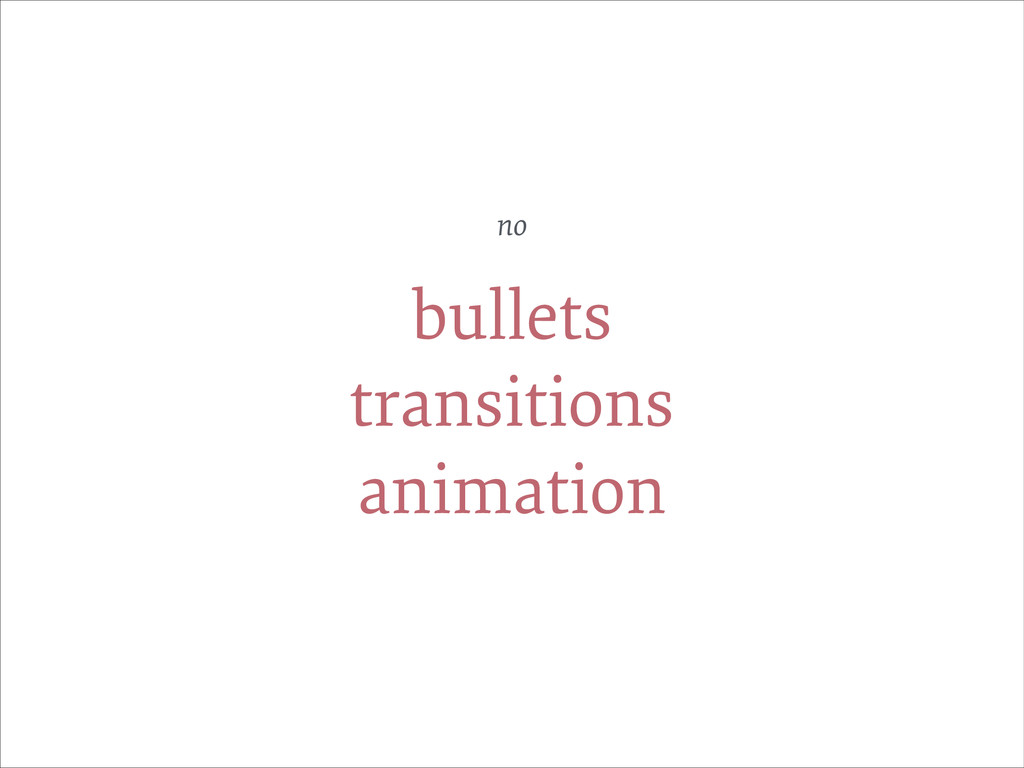 bullets transitions animation no