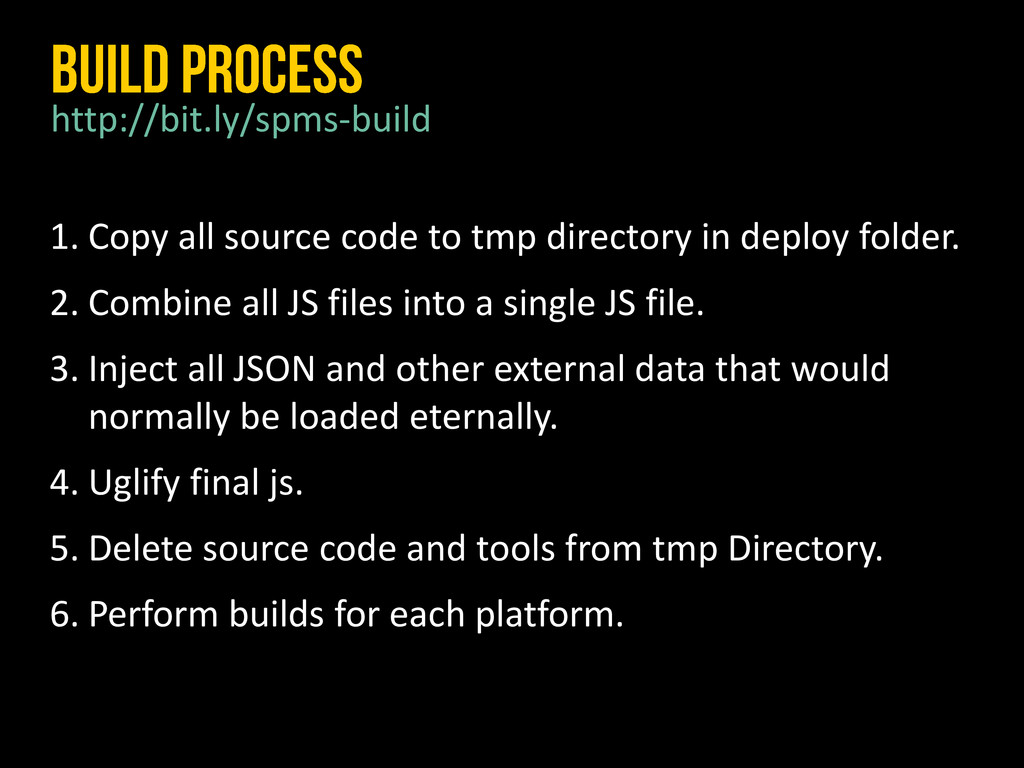 1. Copy all source code to tmp directory in dep...