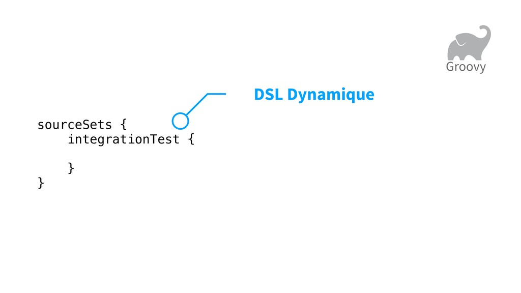 sourceSets { integrationTest { } } DSL Dynamiqu...
