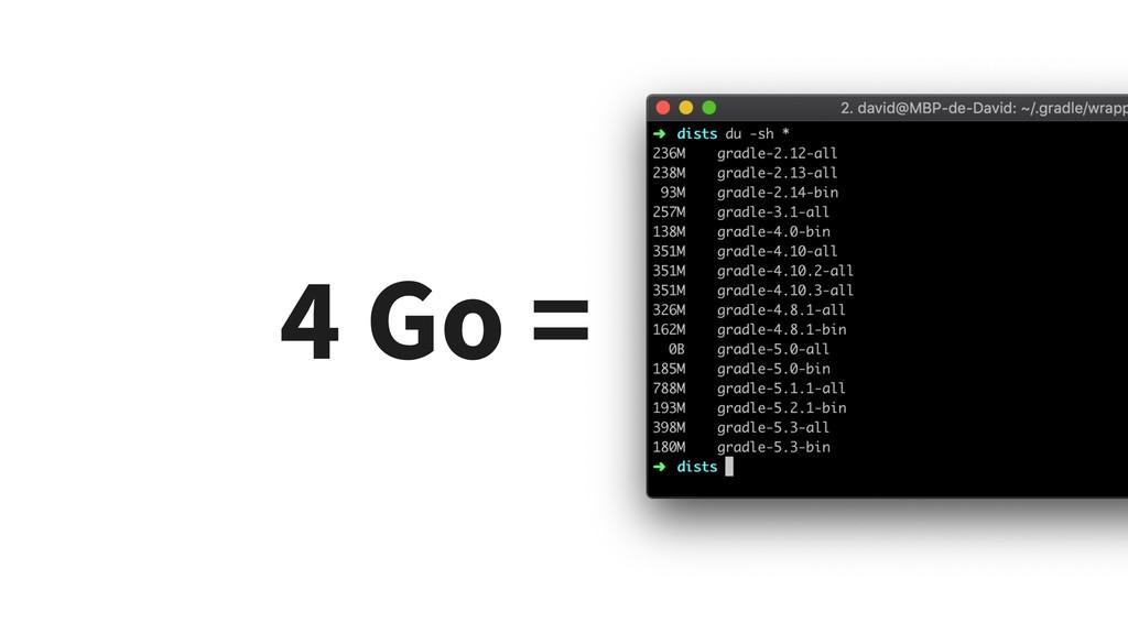4 Go =