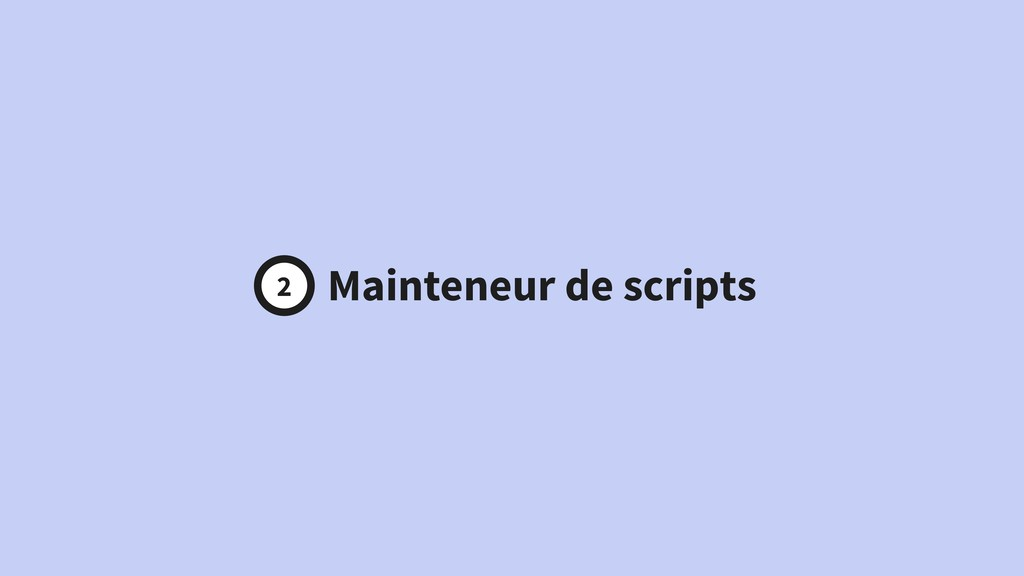 Développeur Mainteneur de scripts Build master 2