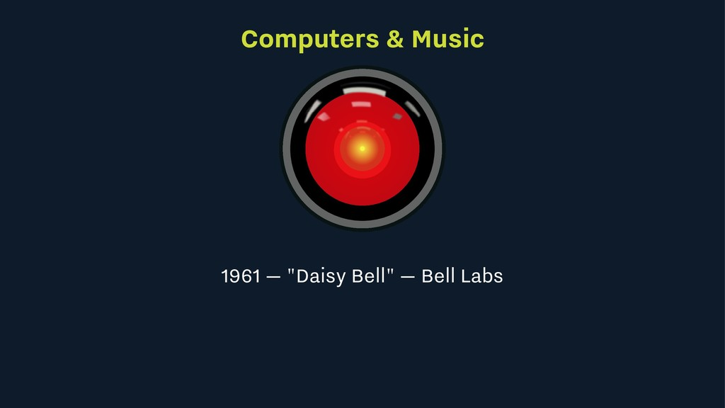 "Computers & Music 1961 — ""Daisy Bell"" — Bell La..."