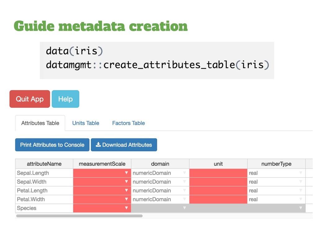 Guide metadata creation